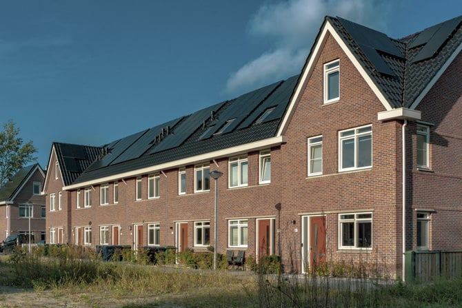Community Housing Project with Solar Panels