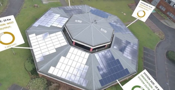 Computer Model with Digitally Added Solar Panels