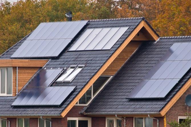 Home with Multiple Solar Arrays