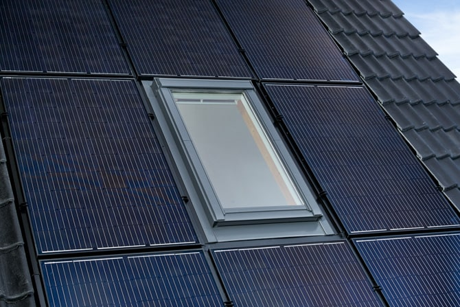 In-roof Solar Array with Integrated Velux Window