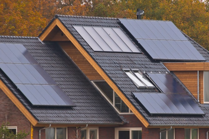 Modern Home with solar PV