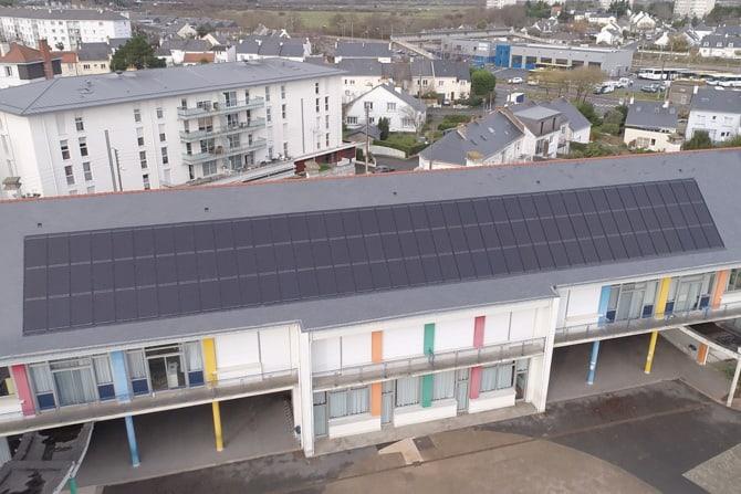 School with Solar Array