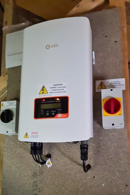 Solar Inverter in Attic